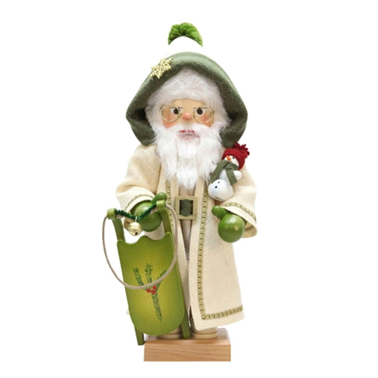 Green Trimmed Santa with Sleigh