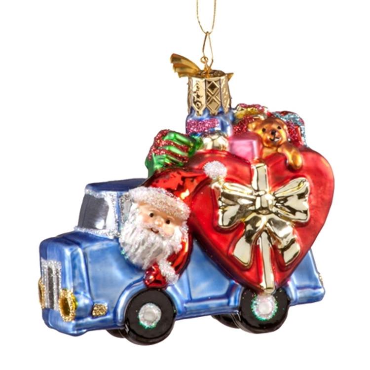 Santa Driving Truckload  of Gifts