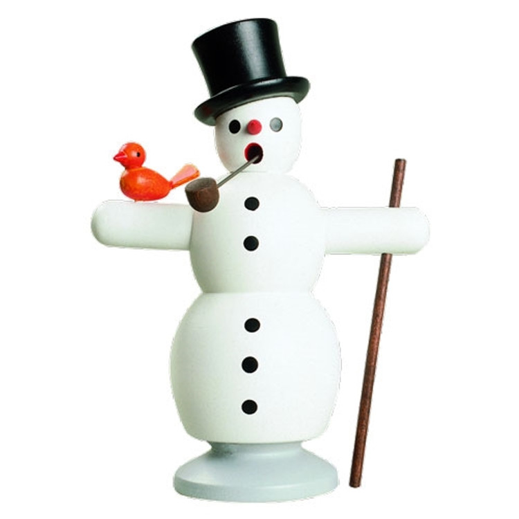 Snowman with Bird Incense Smoker