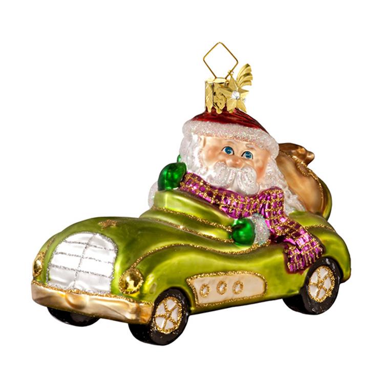 Santa Driving a Roadster