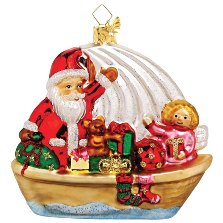 Santa on Sailboat