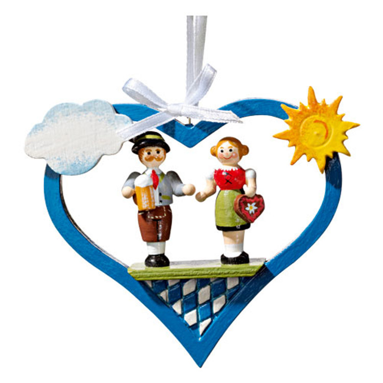 Bavarian Dancers in Heart