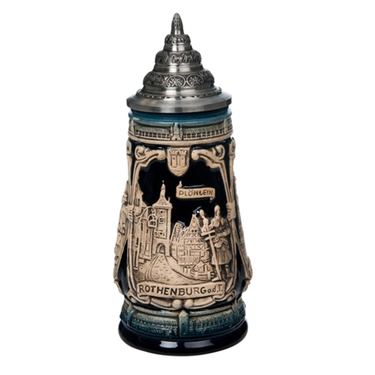 Rothenburg Blue Beer Stein