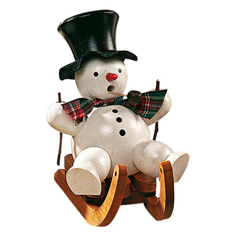 Snowman on Sled