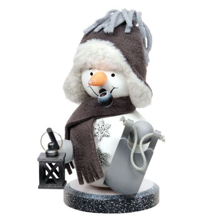 Grey Dressed Snowman