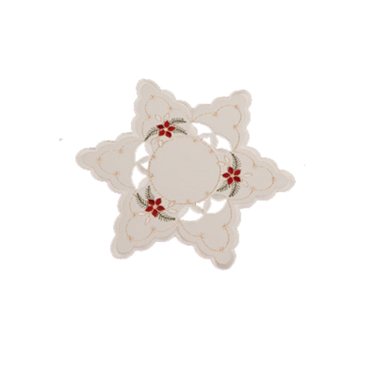 """Poinsettia with Cut-Outs - Star 8"""""""