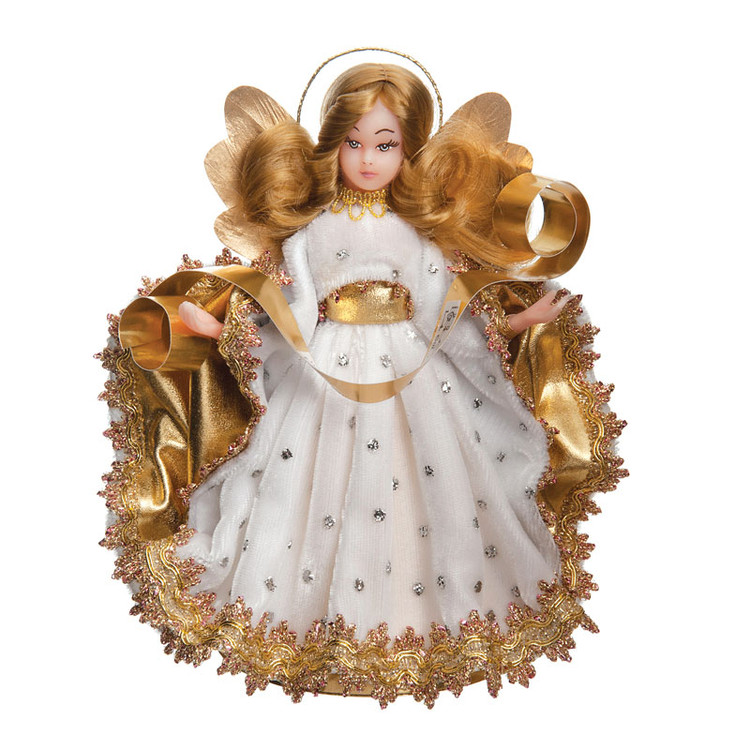 White Velvet Choir Wax Angel