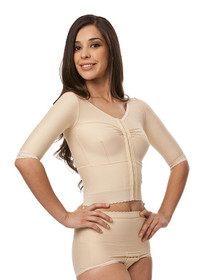 Compression Vest - Long Waisted - Short Sleeve