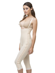 Isavela Stage 1 Body Suit with Suspenders with Separating Zippers - Below Knee
