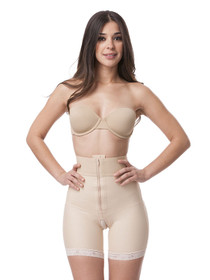 High Waist Mid Thigh Length Buttocks Enhancing Compression Girdle