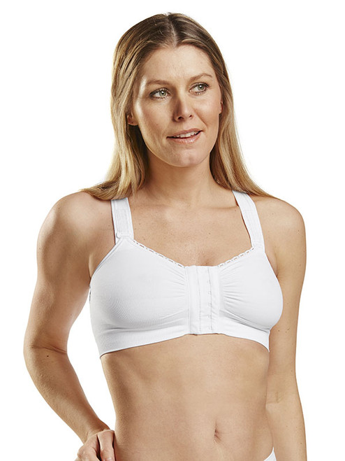 CareFix Alice Post-Op Bra - Front - White