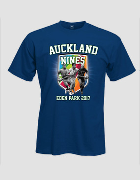 2017 Auckland Nines Mens Royal Tee