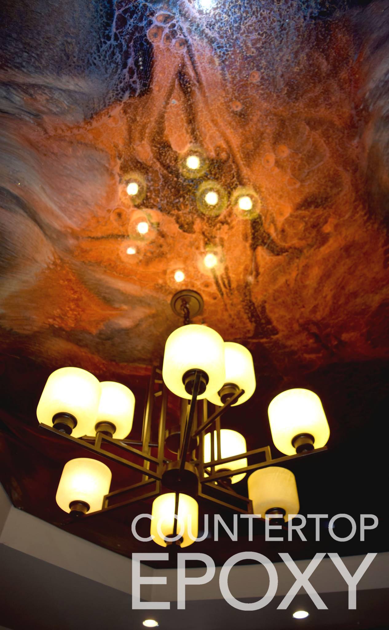 FX Poxy non-sag wall epoxy on ceiling