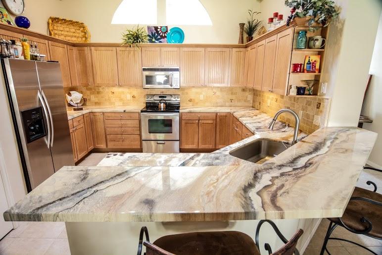 brown marble epoxy countertop