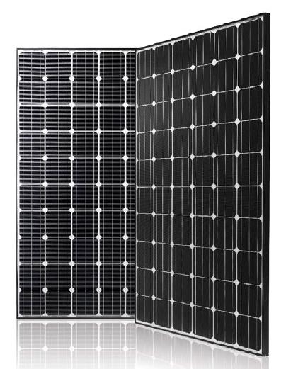 lg mono x neon lg300n1c b3 black 300 watt solar panel module. Black Bedroom Furniture Sets. Home Design Ideas