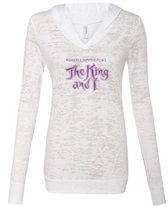 The King and I Hooded Burnout Tee - Ladies
