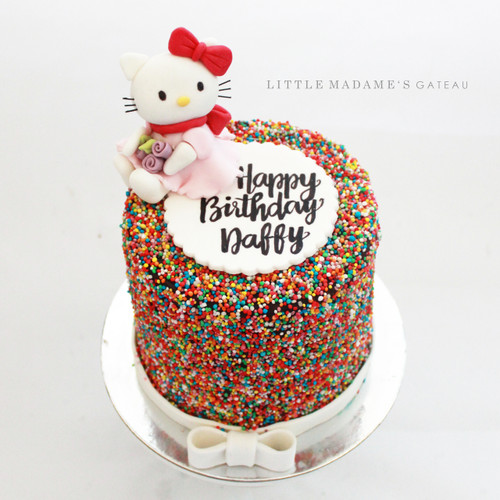 hello kitty girly birthday cake