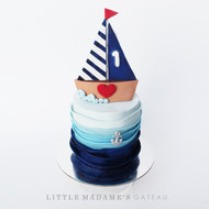 sailor themed kids birthday cake