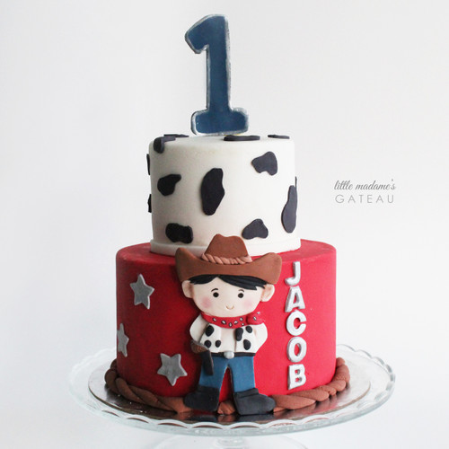 cowboy kids birthday cake