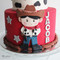 little cowboy red cake