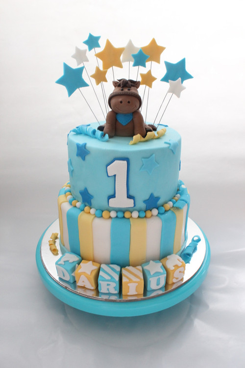 horse themed kids birthday cake