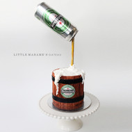 beer can gravity cake