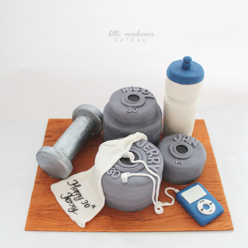 fitness gym freak cake