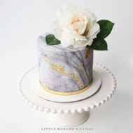 fondant marble cake with rose