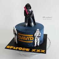 star wars galaxy cake