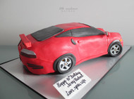Red Porsche Twin Turbo adult birthday cake