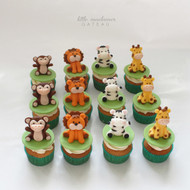 Safari animals cupcakes