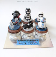 batman star wars cupcakes