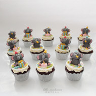 elephant party cupcakes