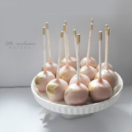 pink with gold touch cake pop