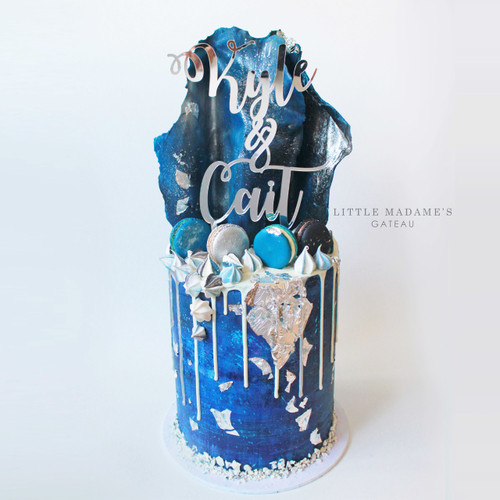 starry night engagement cake