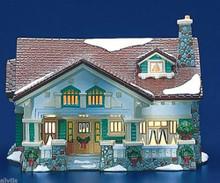 CRAFTSMAN COTTAGE 5437-2 Retired Dept 56 Snow Village MID CENTURY CLASSIC STYLE
