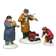 STREET MUSICIANS SET OF 3 Dept 56 - Christmas in the City GOOD DISPLAY WITH BANK