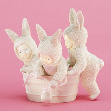 Rub-A-Dub-Dub Three Bunnies In A Tub  Springtime Stories of  Snowbunnies DEPT 56