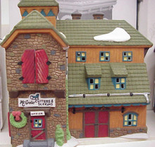 McGrebe Cutters & Sleighs #56405 RETIRED NEW ENGLAND VILLAGE plus skis