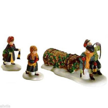 BRINGING HOME THE YULE LOG 55581 - DEPT 56 DICKENS VILLAGE ACCESSORY