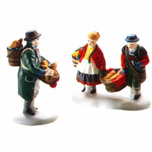 DEPARTMENT 56 -  Alpine Village Buying Bakers Bread # 56197 - set of 2