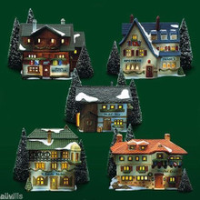 ALPINE VILLAGE ORIGINAL SET OF 5