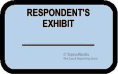 RESPONDENT'S EXHIBIT Labels Stickers Light Blue 492 per pack
