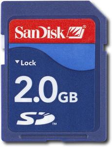 Sandisk 2 GB Card