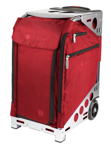 Zuca Professional Wheelie Case for Stenograph in Ruby Red