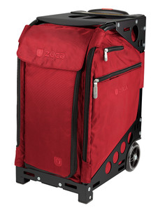 Professional Wheelie Case for Stenograph in Ruby Red