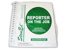 StenEd Reporter on the Job New Package with CD Dictation