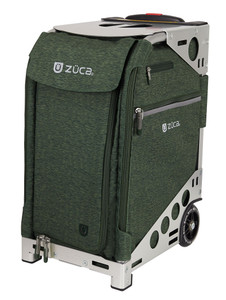 Zuca Professional Wheelie Case for Stenograph in Hunter Green with Silver Frame
