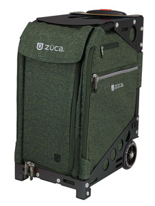 Zuca Professional Wheelie Case for Stenograph in Hunter Green with Black Frame