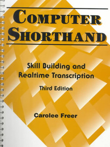 Computer Shorthand - Skill Building and Realtime Transcription - Like New Condition